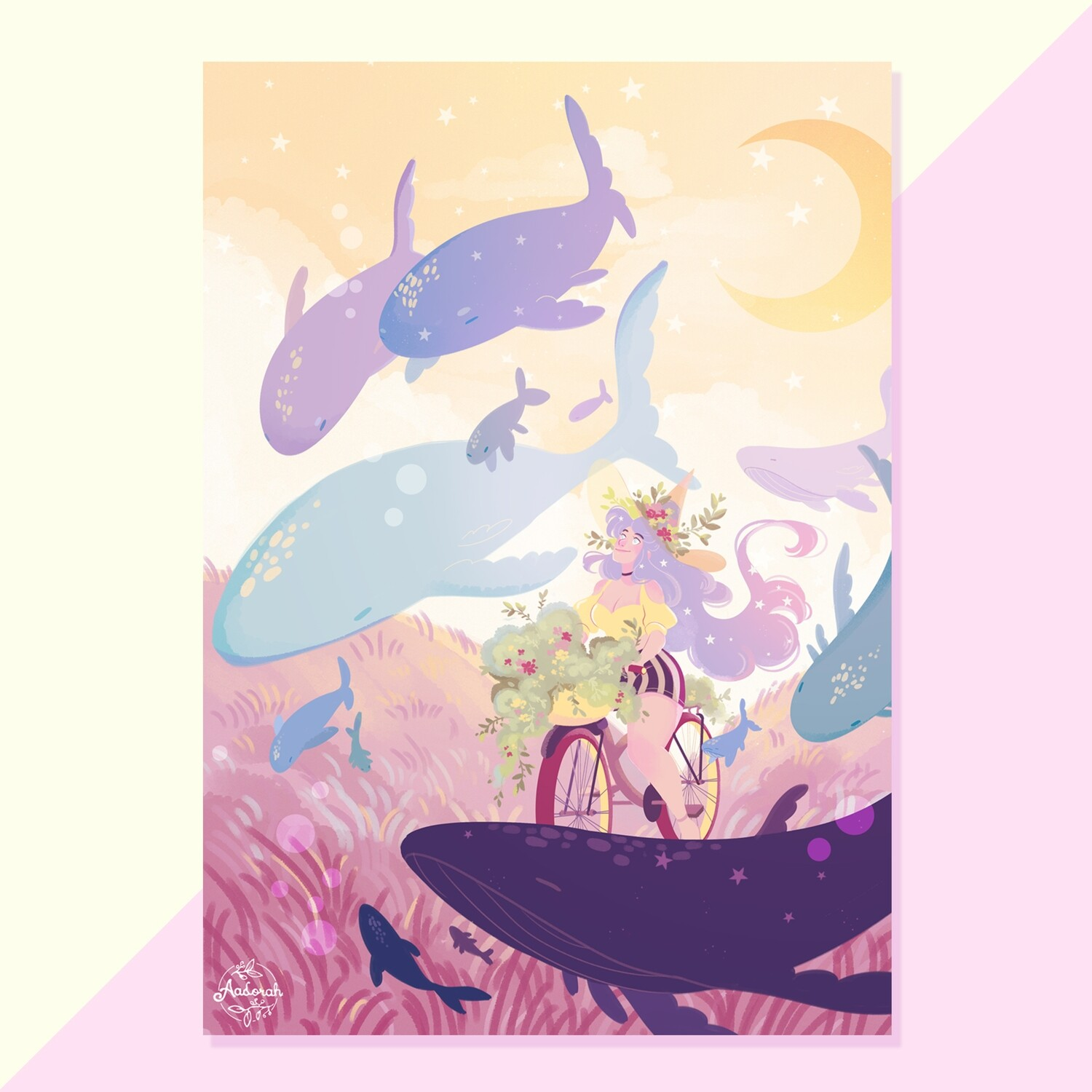 Print - Witch and Whales