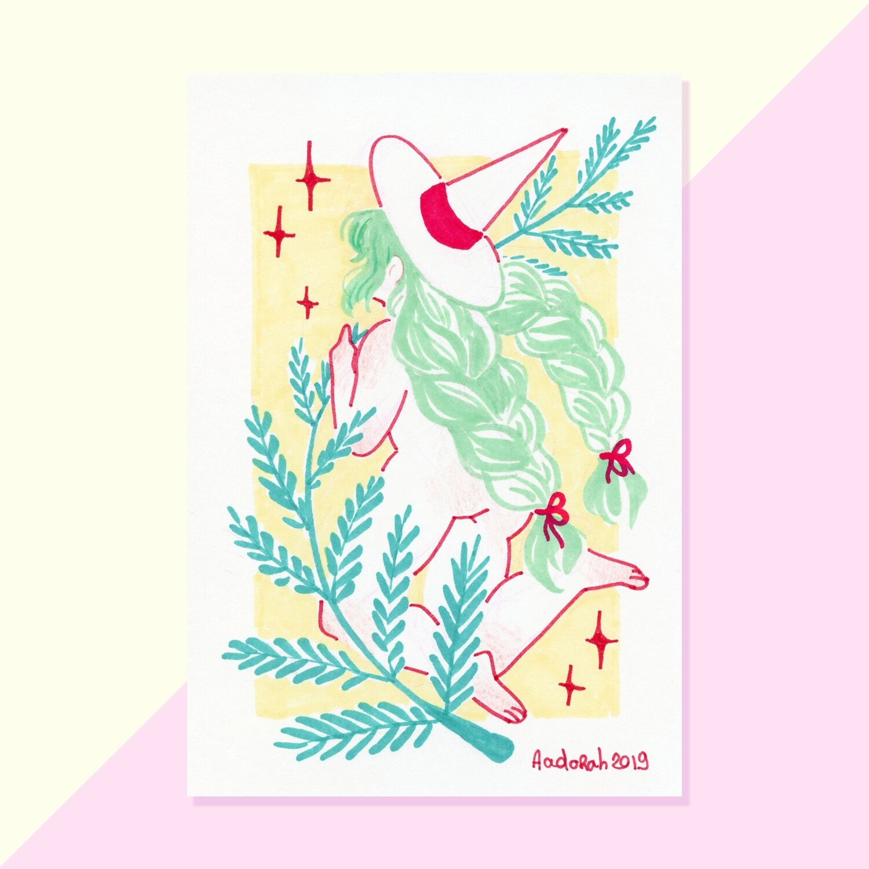 Original - Tiny Witch - Pine branch