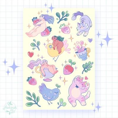 Little Friends Sticker Sheet