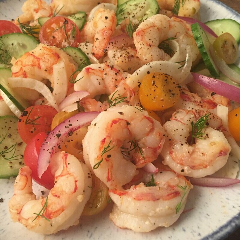 16/20 Wild Caught Red Argentine Shrimp 2lbs.