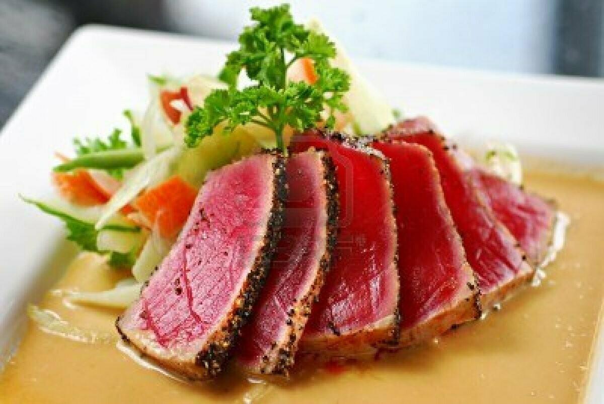 4oz Wild Ahi Yellowfin Tuna Saku Block For Sushi