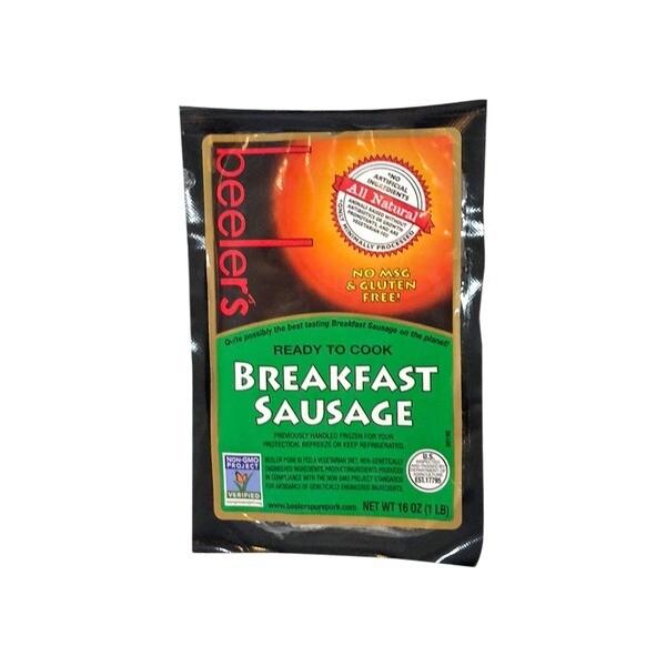 Beelers Breakfast Sausage 1lb