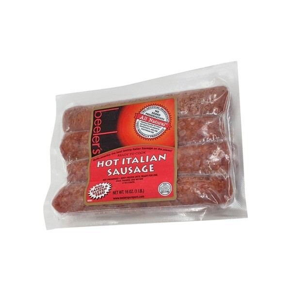 Beelers All Natural Hot Italian Sausage
