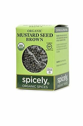 Organic Whole Brown Mustard Seeds
