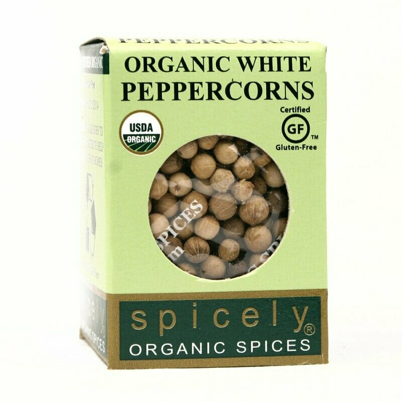 Organic Whole White Peppercorns