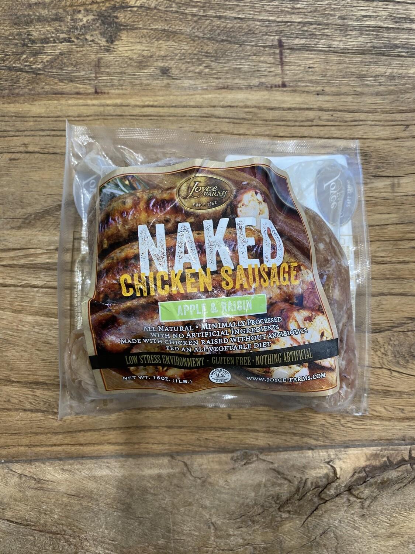 Naked Chicken Sausage 2oz Apple & Raisin