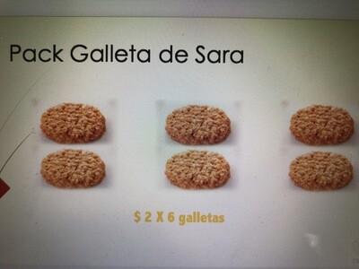Pack Galletas Sara X 6