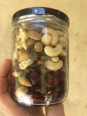 Cashew,arándanos,almendra,pasa x 500 gr