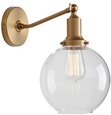 Permo Industrial Vintage Slope Pole Wall Mount Light