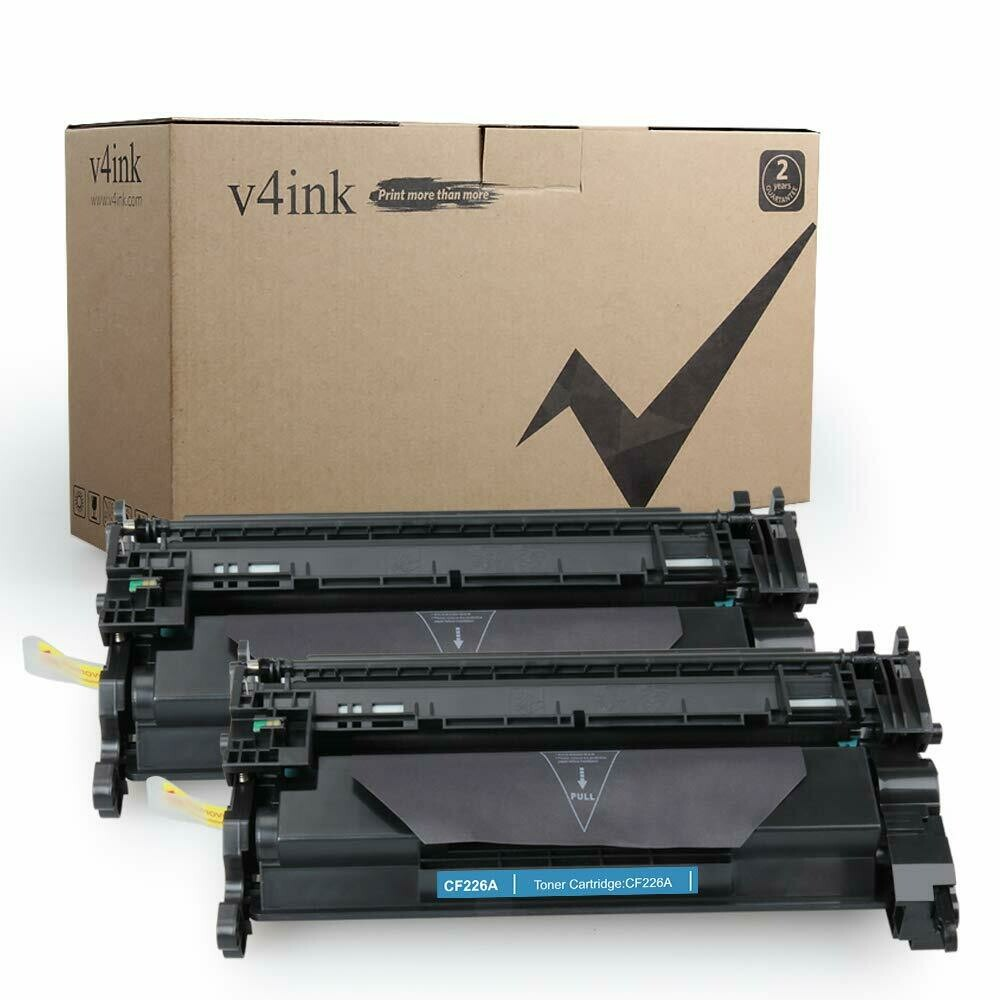 V4INK 2 Pack Replacement for HP CF226A HP 26A Toner Cartridge for HP Laserjet Pro M402dn M402n M402dw, HP MFP M426fdw M426fdn Printer, 3100 Pages High Yield Black