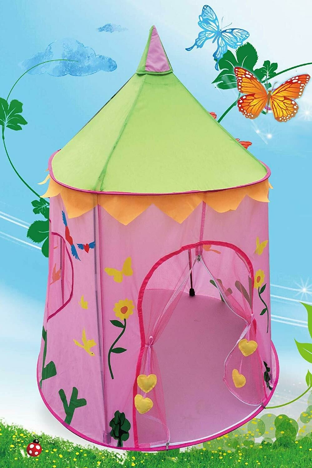 POCO DIVO Wonderland Princess Palace Fairy Castle Pink Play Tent