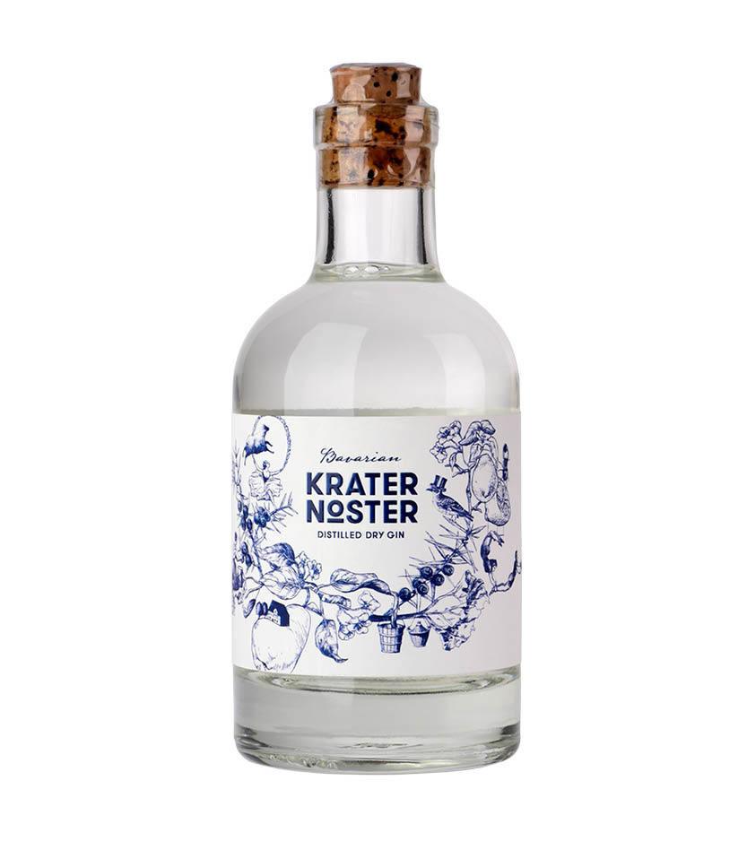 KRATER NOSTER - Bavarian Distilled Dry Gin 0,2l - Probierflasche