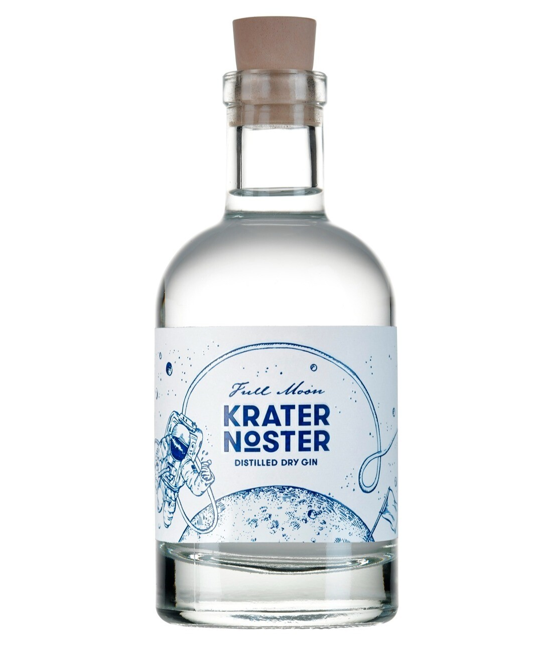 Krater Noster - Full Moon Distilled Dry Gin 0,2l -Probierflasche