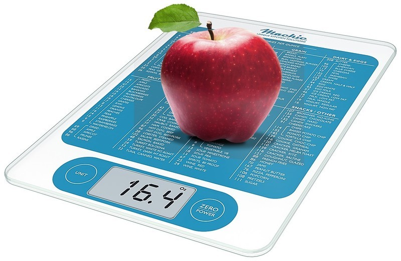 FREE SHIPPING: Mackie C19 Digital Kitchen Scale Food Scale and Multifunction Calorie Scale Highly Accurate Capacity 12 lbs 5.44kgs 4 min. Hold Before Powering Off