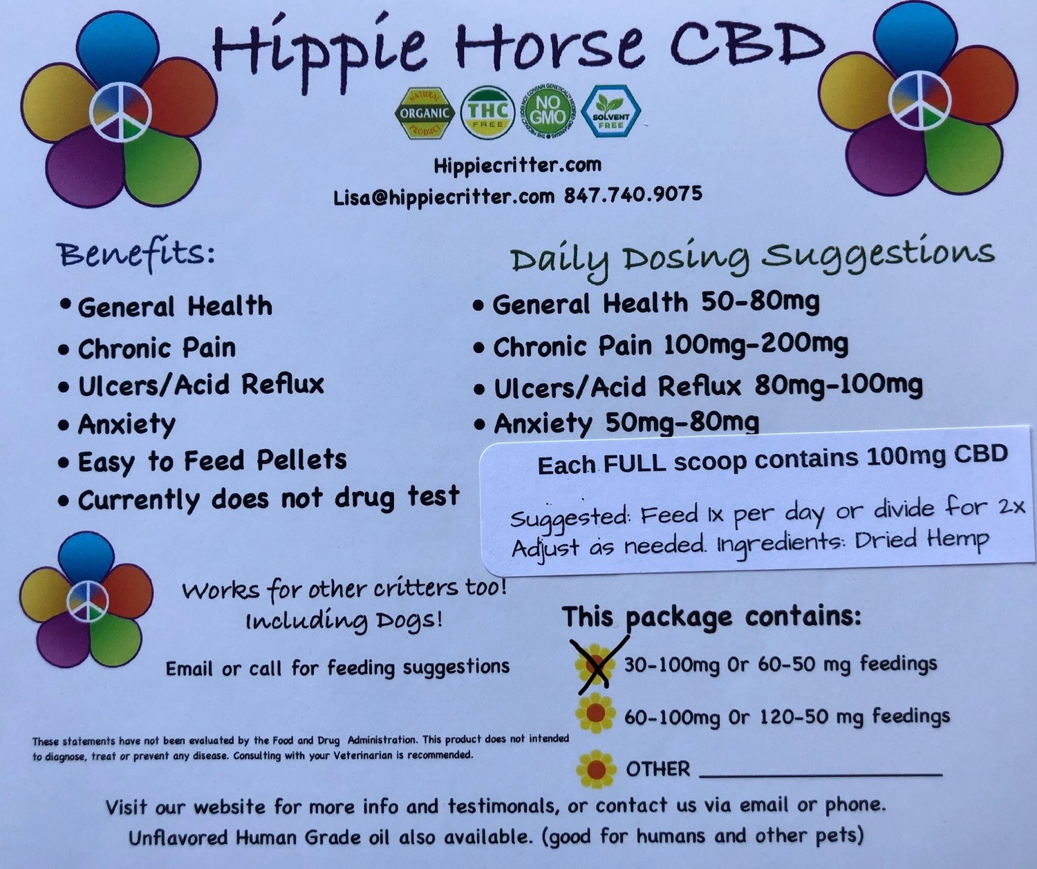 Hippie Horse 10 Servings-Trial size.