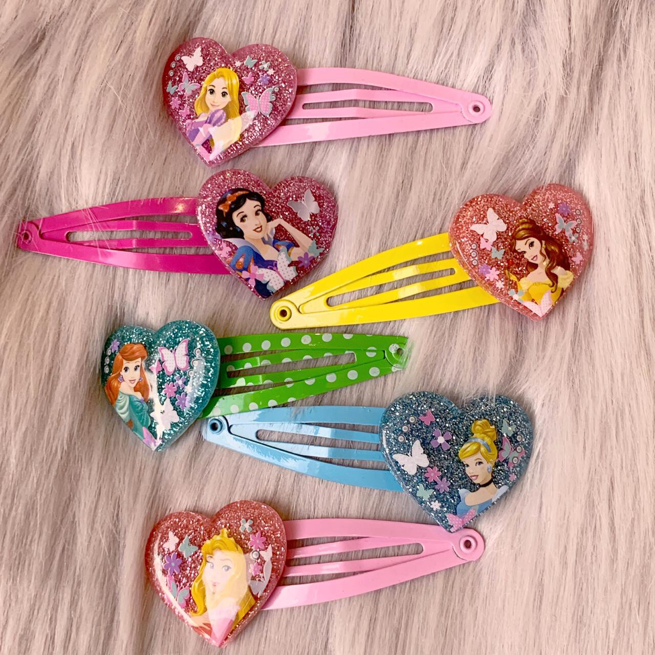PRINCESS HAIR CLIPS 6 PZAS.