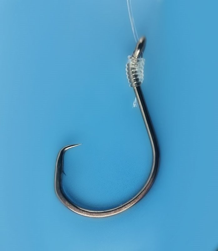 Tide Rite Saltwater Snelled Circular Hooks for Striped Bass - Black Nickel - 3 PACK - 6 | 0