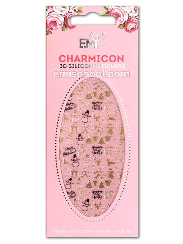 Charmicon 3D Silicone Stickers #67 Merry Christmas