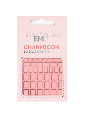 Charmicon 3D Silicone Stickers #111 Squares Gold