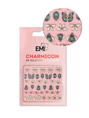 Charmicon 3D Silicone Stickers #135 Insects