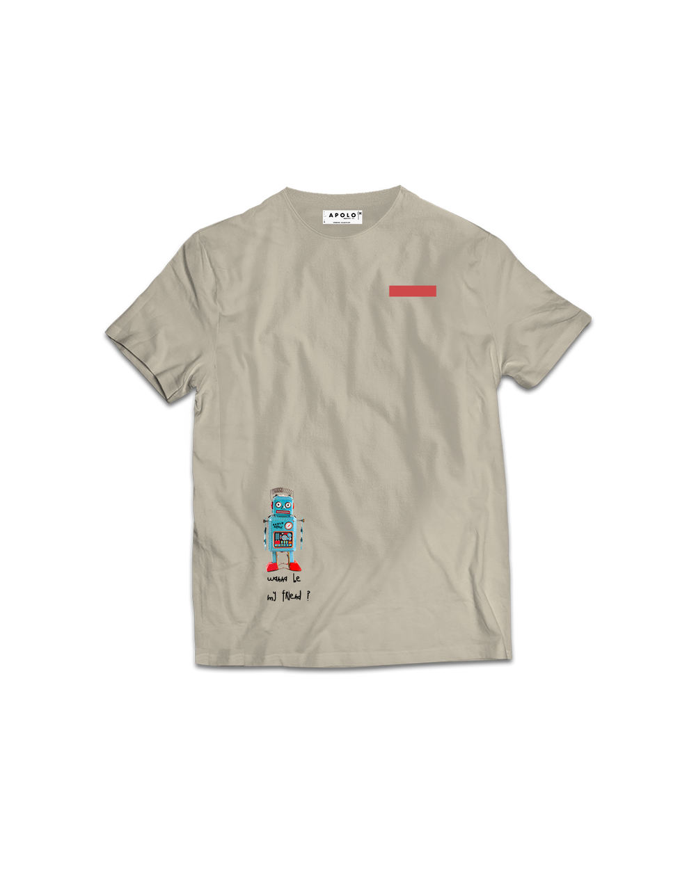 Apolo - Robot Cream Shirt