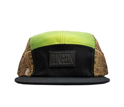Dungeon Forward - 5 Panel Green/Brown Cap