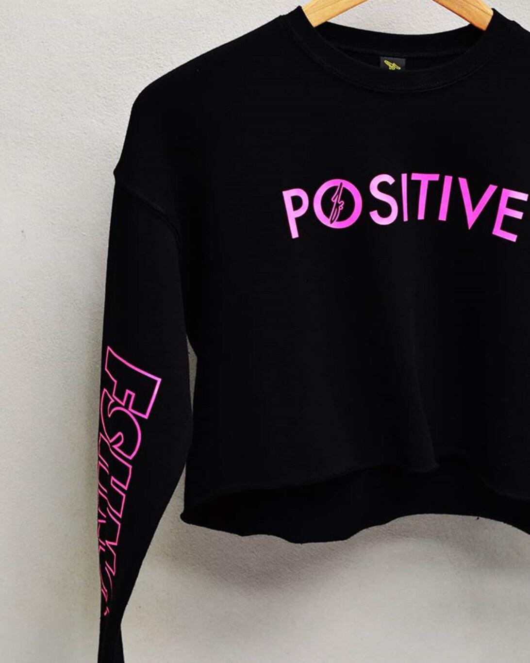 FSHNS - Womens Positive Long Sleeve Crop Top