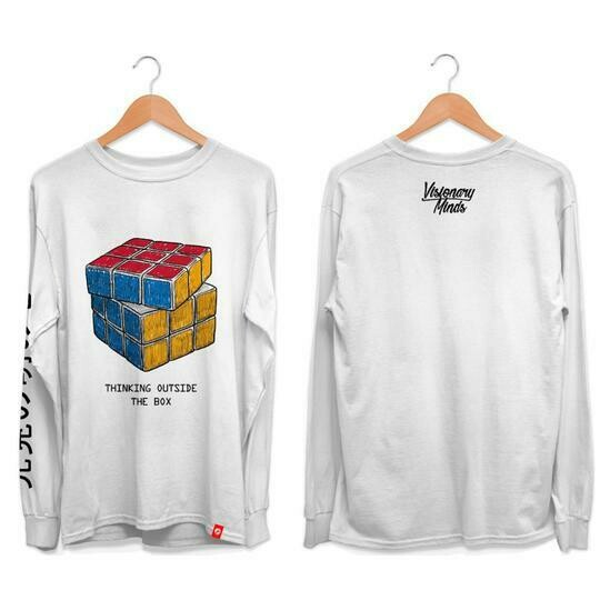 VM - White Rubik's Long Sleeve