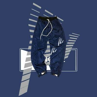 The Only One - NAVY BLUE ANKLE STRAP WIND PANT