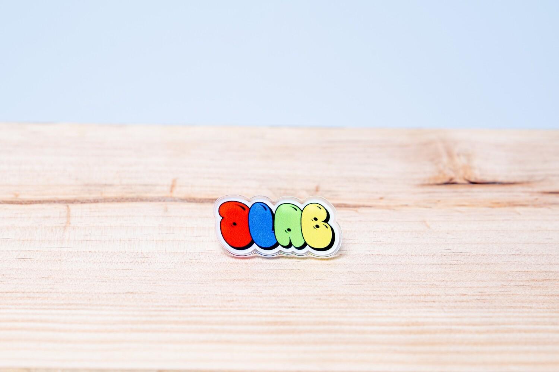 DLAB Balloon Graffiti 1 x 3 Acrylic Pin