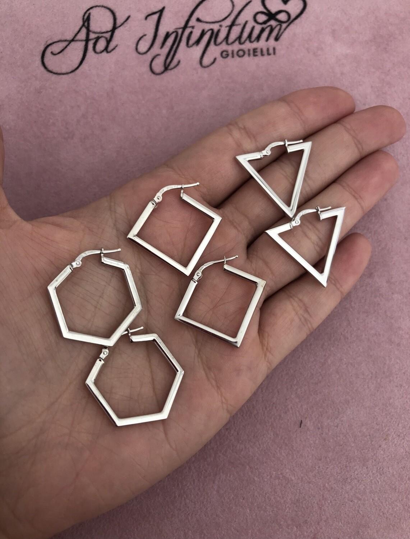 Orecchini Forme Geometriche