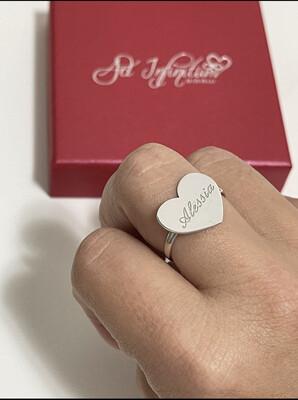 Anello cuore  Nome personalizzato