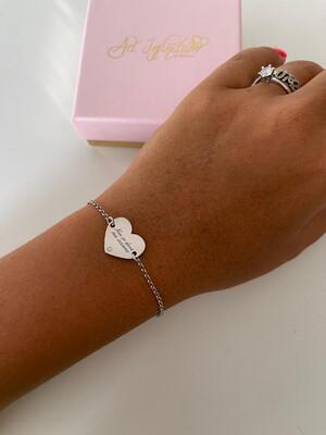 Bracciale cuore Luxury personalizzato