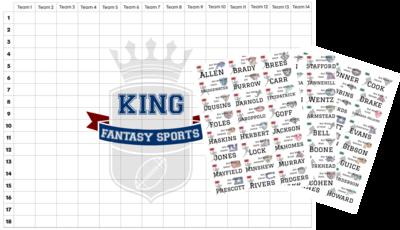 2020 UK NFL Draft Board Kit (Free UK P&P)