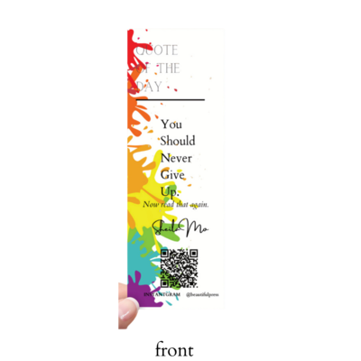 Bookmark-You Should Never Give Up | Rainbow