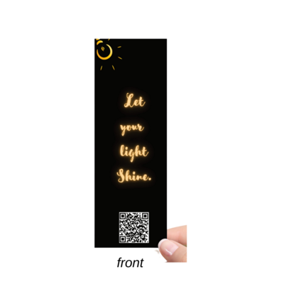 Bookmark-Let Your Light Shine | Golden Black