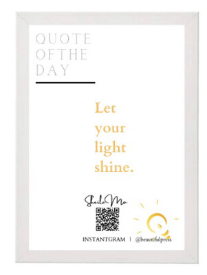 Let Your Light Shine Mini White Picture Frame