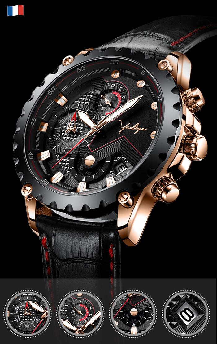 Yadiya Wirst Watch Fashion Mechanical Design