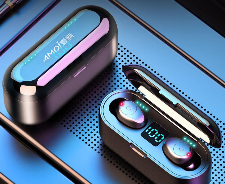 Amoi Wireless Sport Earphones Bluetooth 5.0 Gray
