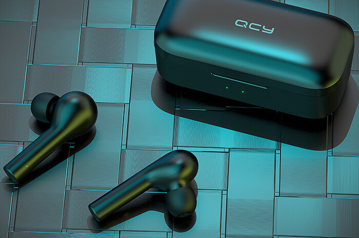 QCY T5 Bluetooth Wireless Earphones Black