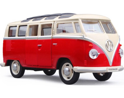 Car Mini Model Collection Toy Wolkswagen Bus Classic