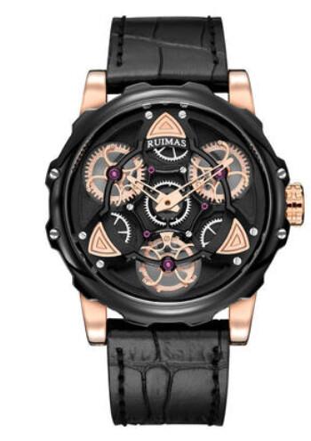 Ruimas Leather Watch Gears Design