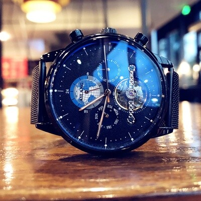 Ailang Watch Dark Theme Steel Style Automatic