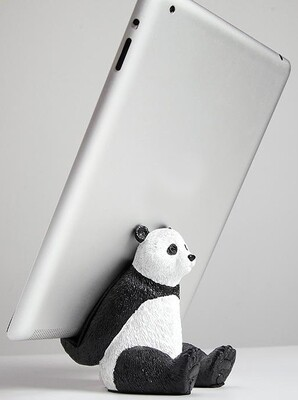 Panda Phone & iPad Support Stand - Cool Setup Desk Decor