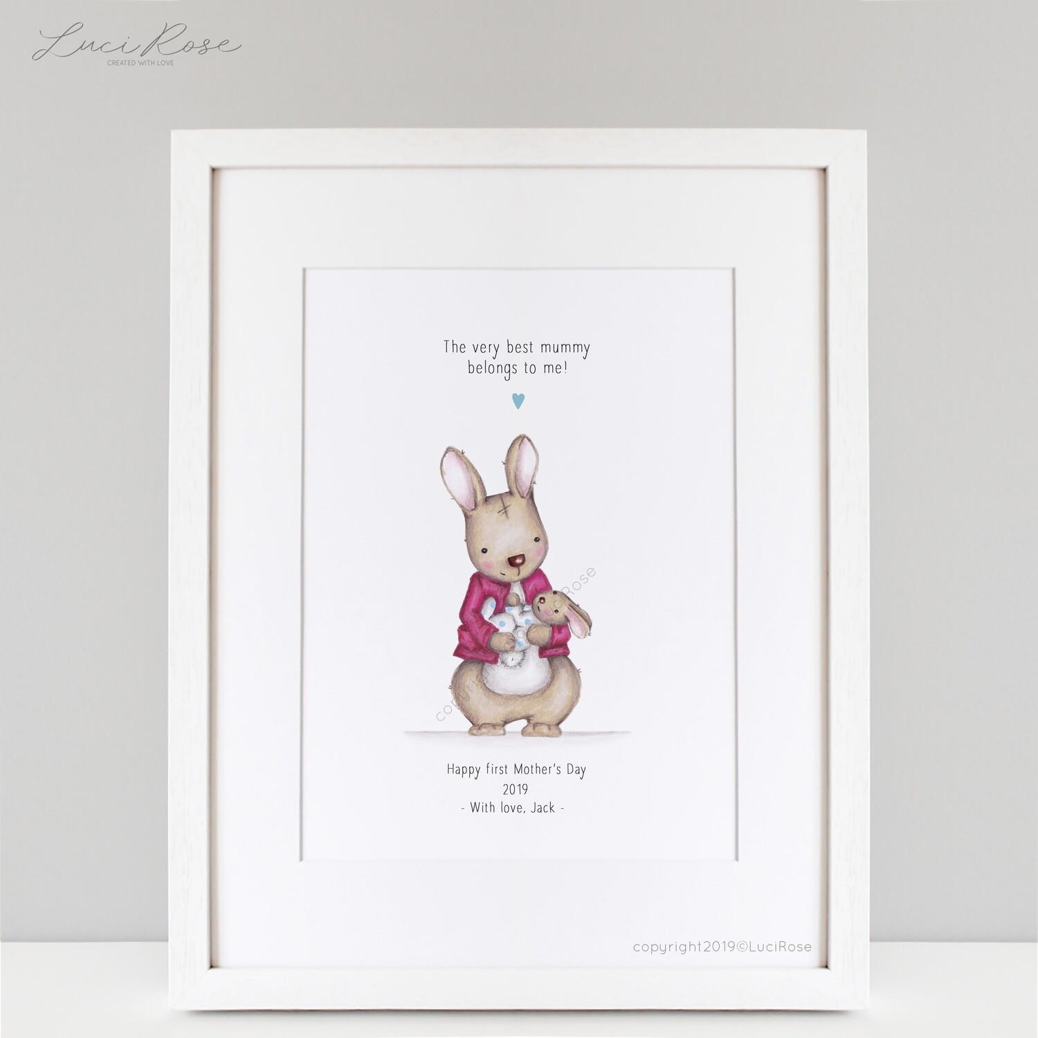 Cotton Tail First Mother's Day Art Print