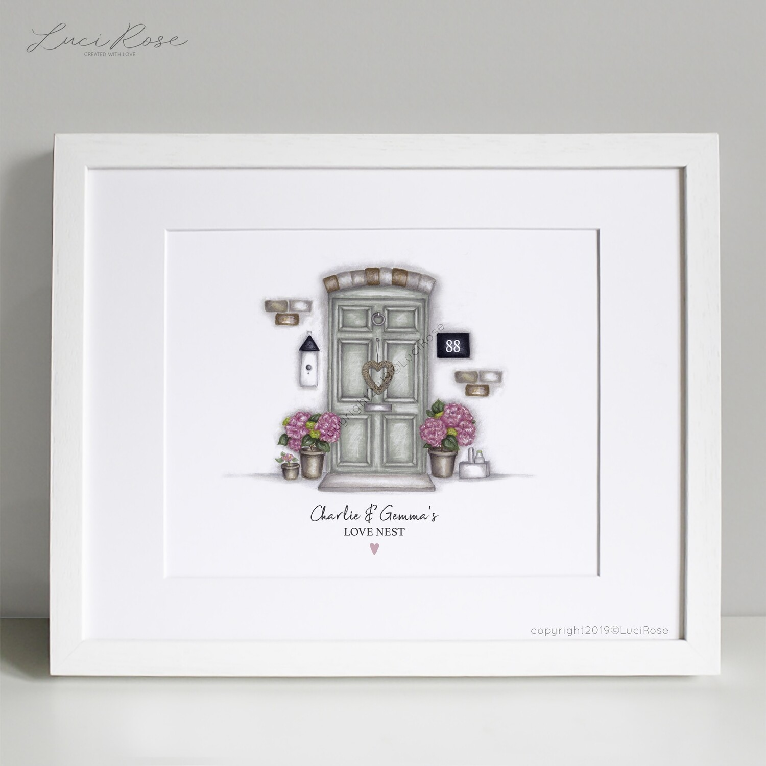 Love Nest Couples New Home Art Print