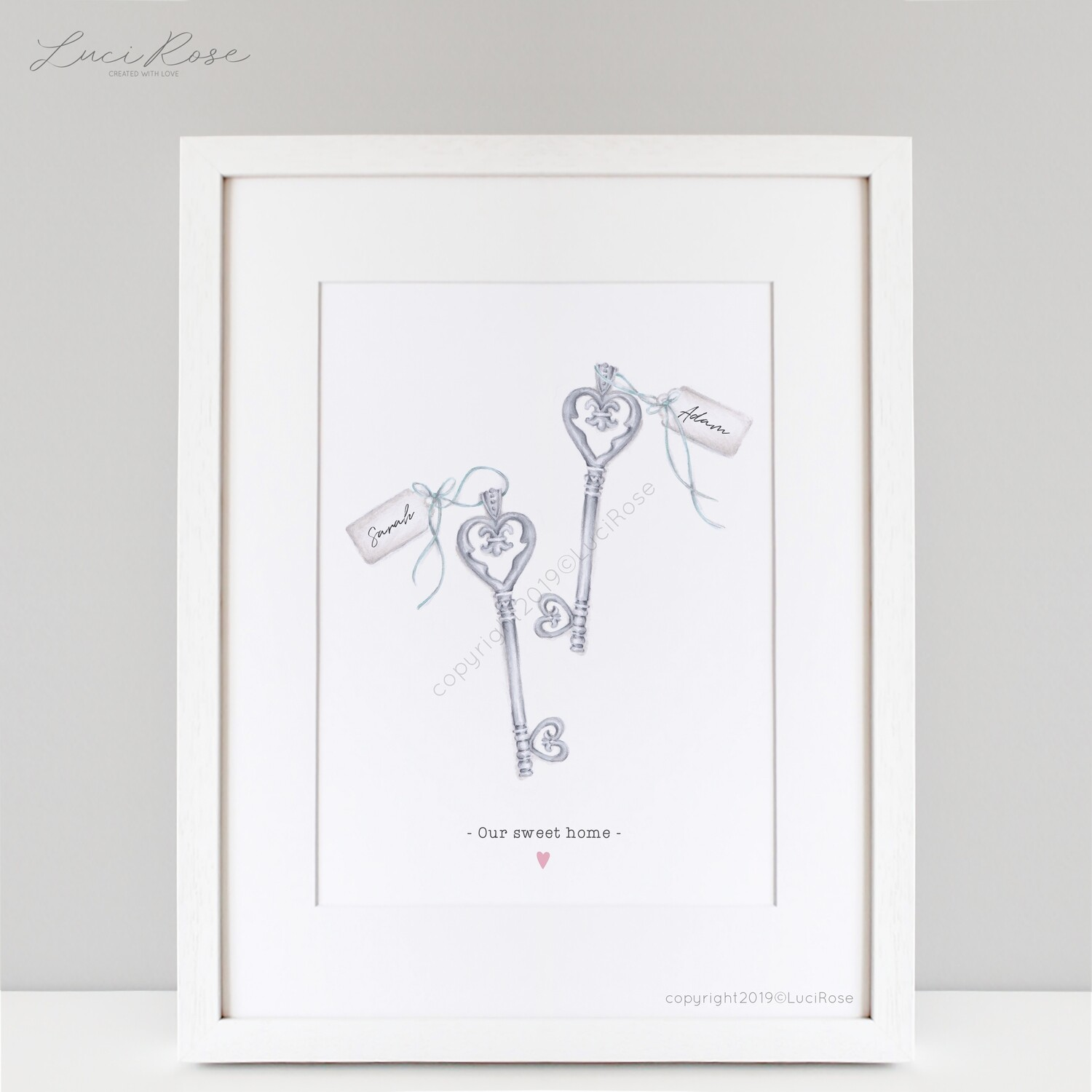 Key To My Heart New Home Couples Art