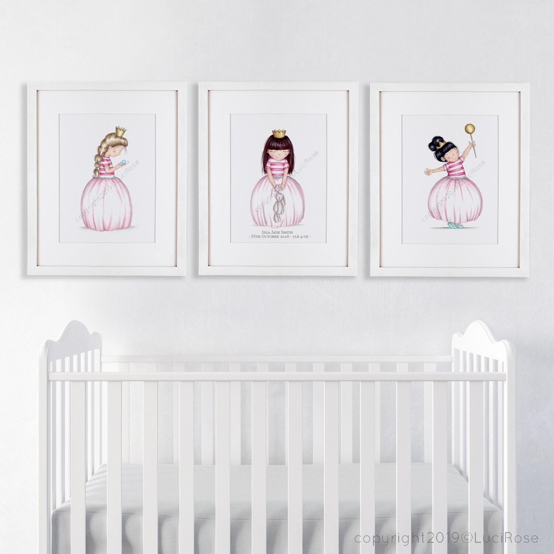 Princess Nursery Art Set