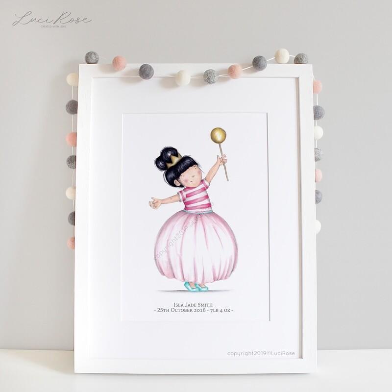 Princess Poppy Girls Nursery Art