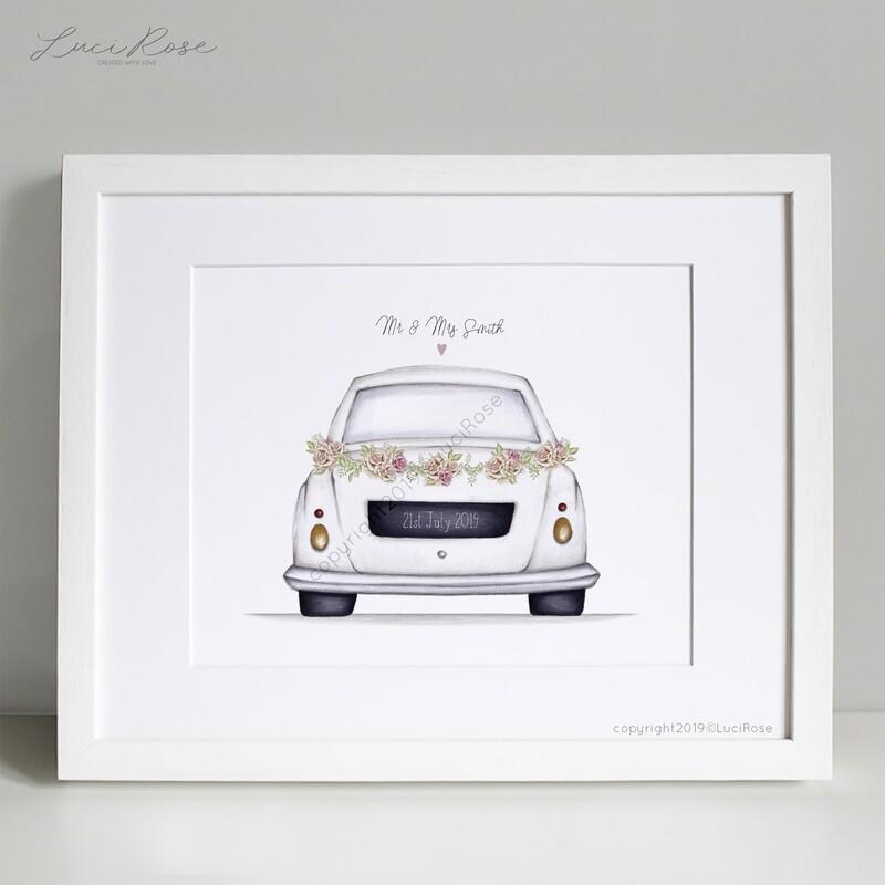 Wedding Car Ride Gift Art